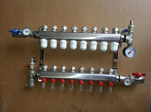 in floor heat manifold 4 loop