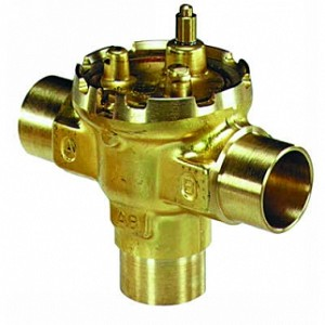 VU54S2024/B, Three-way Fan Coil Valve, 1 in. Sweat, 7.0 Cv